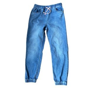 H&M jeans elastic waist with draw strings girls size 6-7 years